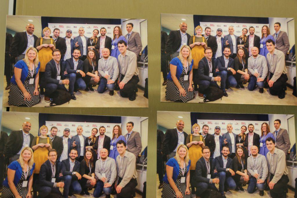 Four group photos from TechForum Ukraine.