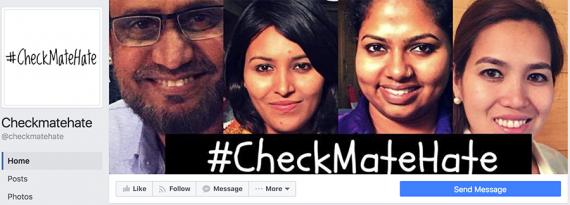 Faces from the #checkmatehate campaign