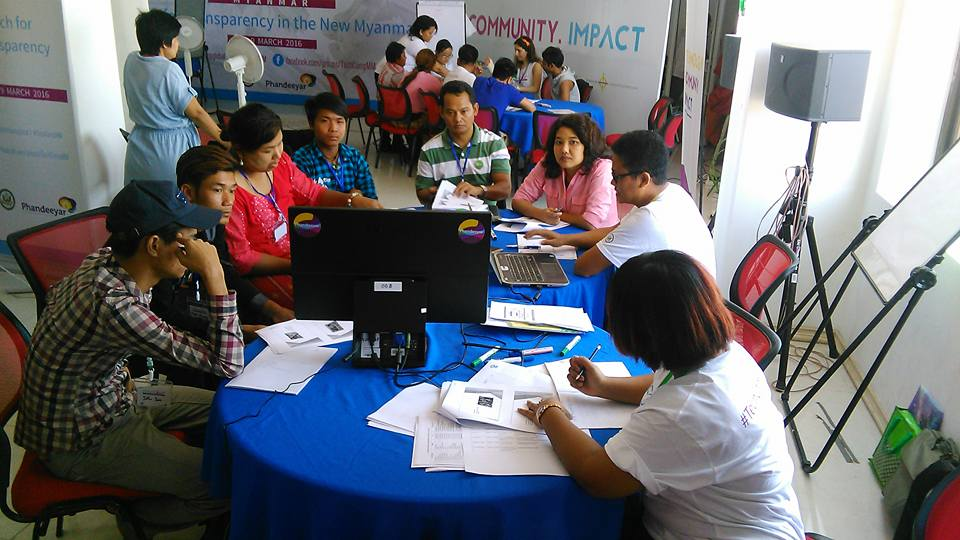 Participants learning about technology in Yangon