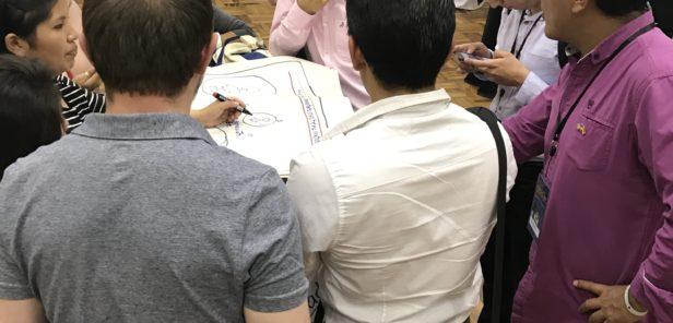 Speed-geeking at TechCamp Bolivia