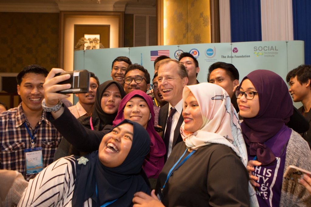 The Ambassador gets in a selfie
