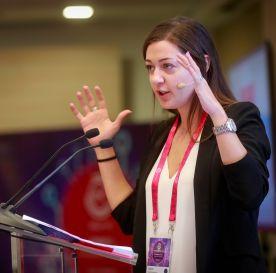 TechCamp trainer Andrea Solomonides.