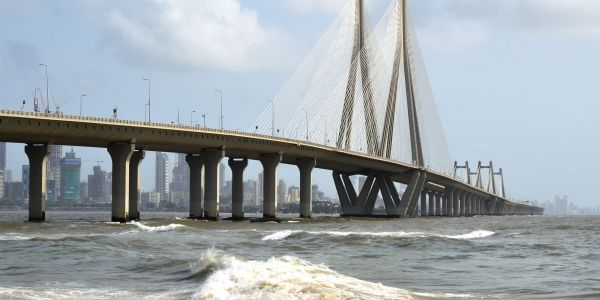 Bandra-Worli Sea Link in Mumbai, India